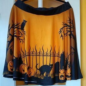 Sweet midnight Halloween skirt